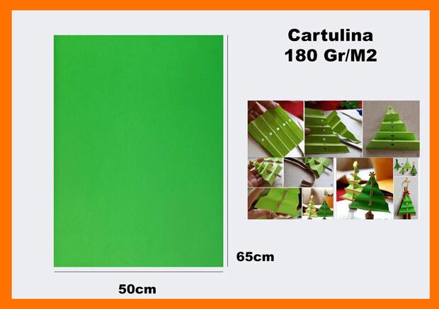 CARTONCINO VERDE 50X65CM 180G
