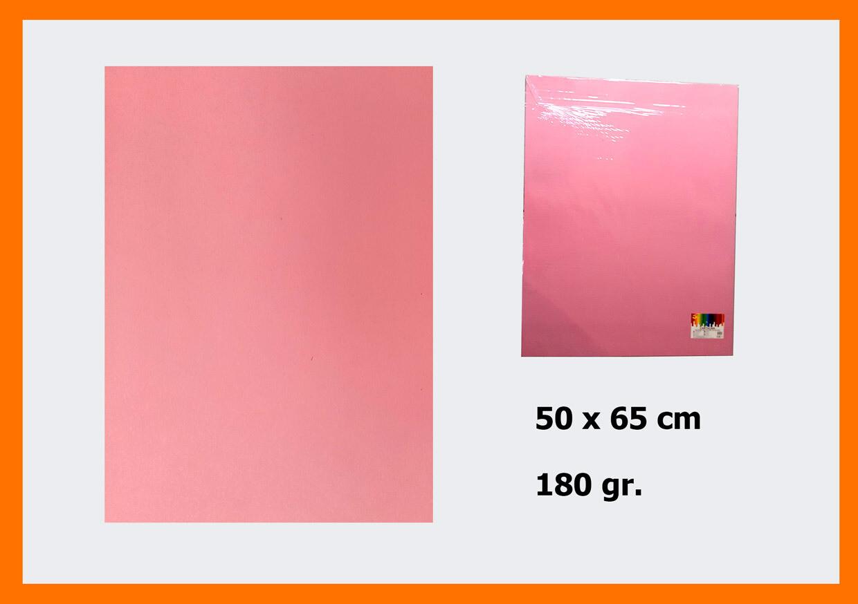 CARTONCINO ROSA 50X66CM 180G