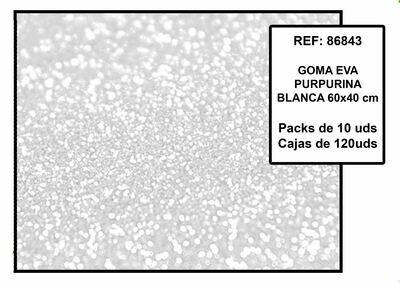 EVA BIANCO GLITTER 40X60CM