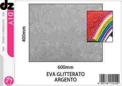 EVA 40X60CM GLITTER ARGENTO