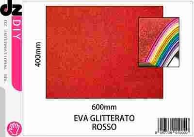 EVA 40X60CM GLITTER ROSSO