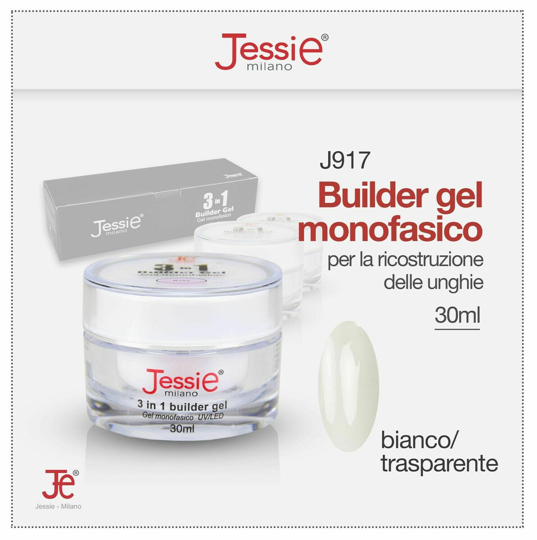 3 IN 1 BUILDER GEL MONOFASICO UV LED 30ML BIANCO TRASPARENTE