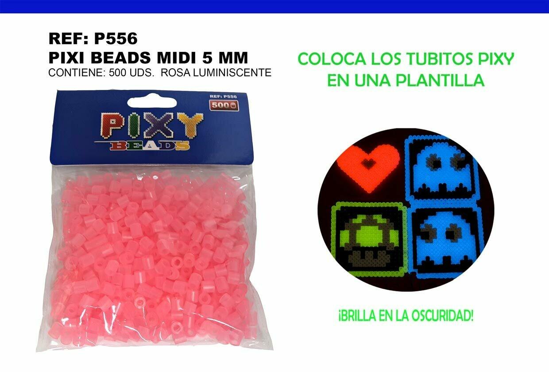 PIXY MIDI 5MM LUMINICENRES ROSA