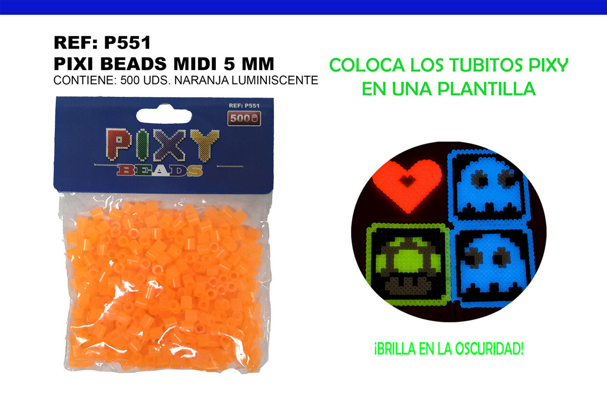 PIXY MIDI 5MM ORANGE LUMINICENTES