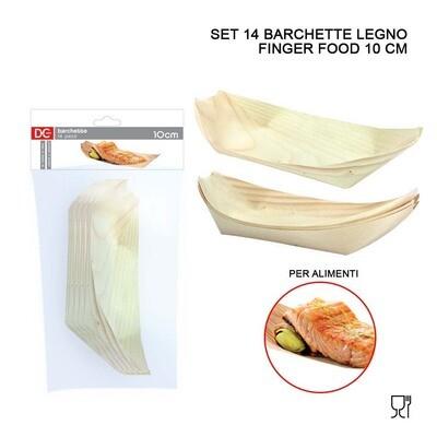 BARCHETTA LEGNO FINGER FOOD 10CM 14PZ ASS.
