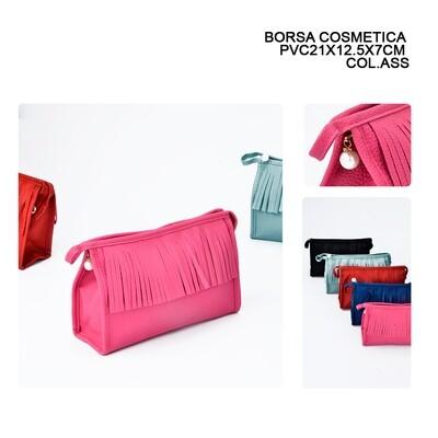 BORSA COSMETICA 21X12.5X7CM FRANGE ASS.