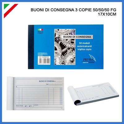 BUONI DI CONSEGNA 3 COPIE 50/50/50 FG 17X10CM