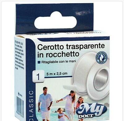 CEROTTO ROCCHETTO PE TRASPARENTE 5MX2,5 CM
