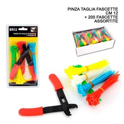 FASCETTE MULTICOLOR+ PINZA 12CM 200PZ
