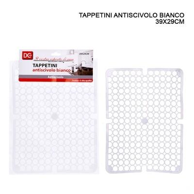 TAPPETO LAVELLO A/SCIVOLO 29X39CM PALLINI BIANCO
