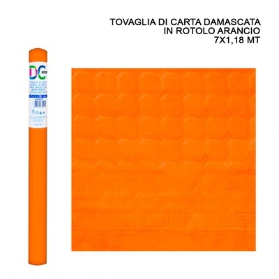 TOVAGLIA CARTA DAMASCATA ROT. 7X1,18M ARANCIO