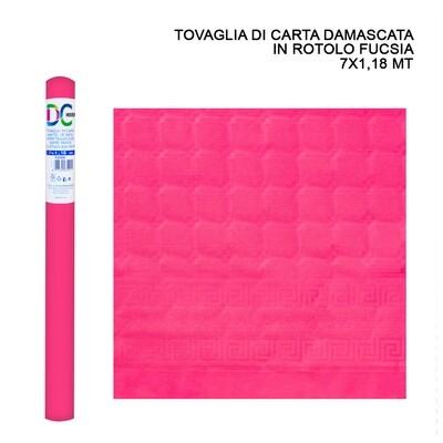 TOVAGLIA CARTA DAMASCATA ROT. 7X1,18M FUCSIA