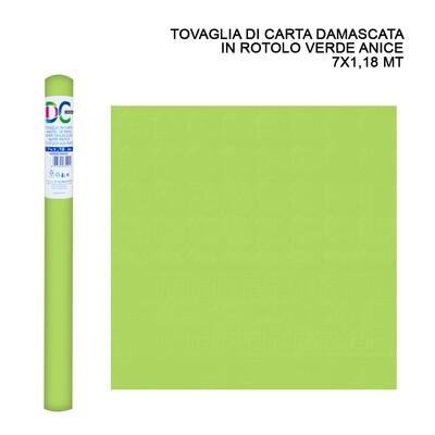 TOVAGLIA CARTA DAMASCATA ROT. 7X1,18M VERDE ANICE
