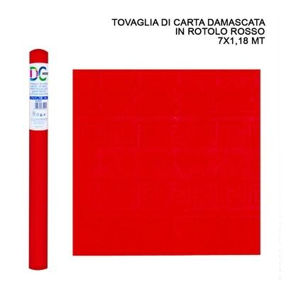 TOVAGLIA CARTA DAMASCATA ROT. 7X1,18M ROSSO