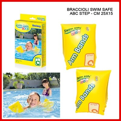 BRACCIOLI SWIM SAFE ABC STEP C 25X15CM