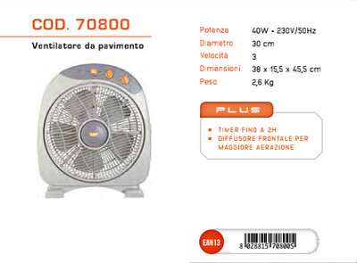 VENTILATORE BOX USBF-807