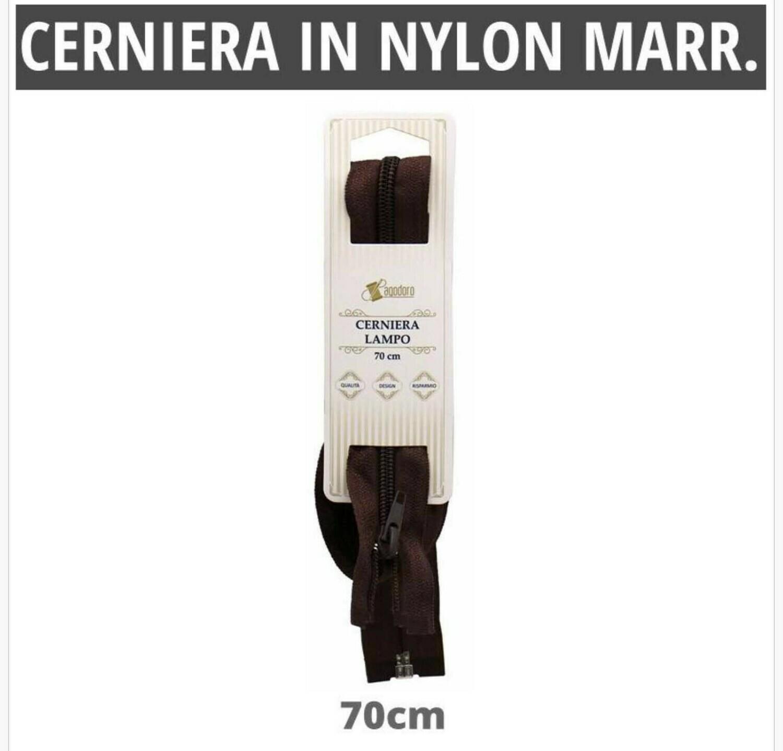 CERNIERA IN NYLON MARRONE 70CM