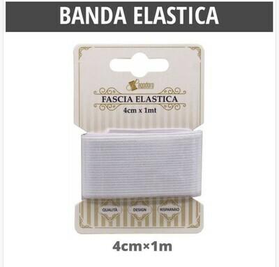 BANDA ELASTICA PIATTO BIANCO40MM 1M