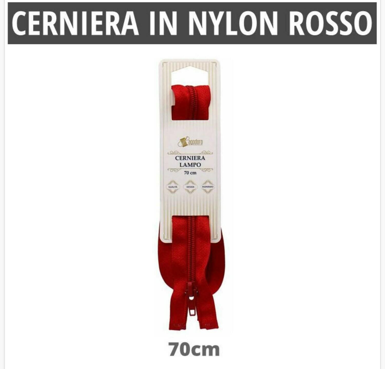 CERNIERA IN NYLON ROSSO 70CM