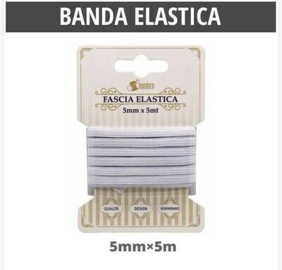 BANDA ELASTICA PIATTO BIANCO5MM*5M