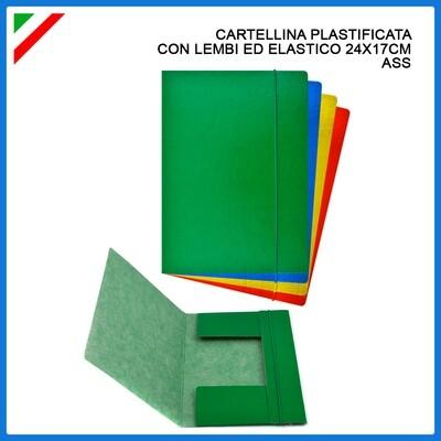CARTELLINA C/ELAST. 3/L 190G 24X17CM ASS.