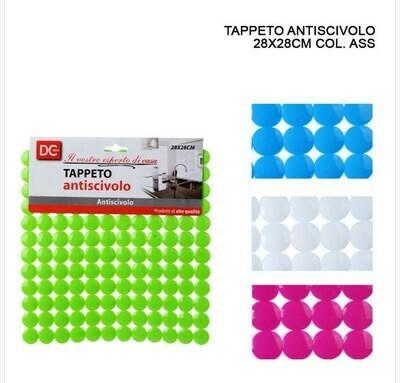 TAPPETO LAVELLO A/SCIVOLO 28X28CM BOTTONCINI ASS