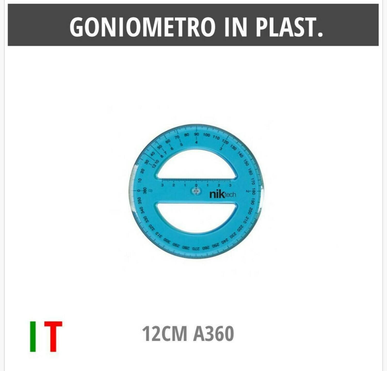 GONIOMETRO IN PLAST.12CM A360
