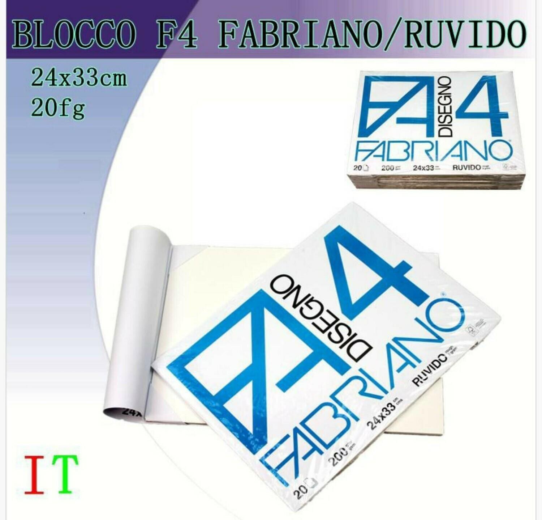FABRIANO BLOCCO DISEGNO F4 24X33CM 200G 20F R