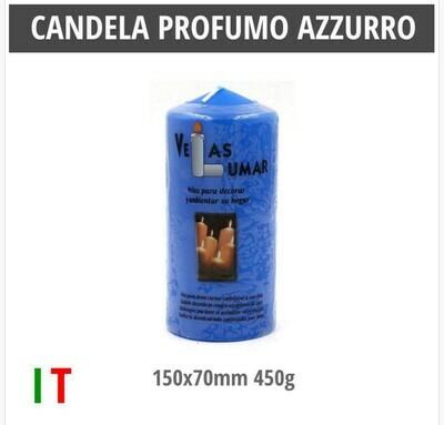 CANDELA PROFUMO AZZURRO 150X70MM 450G