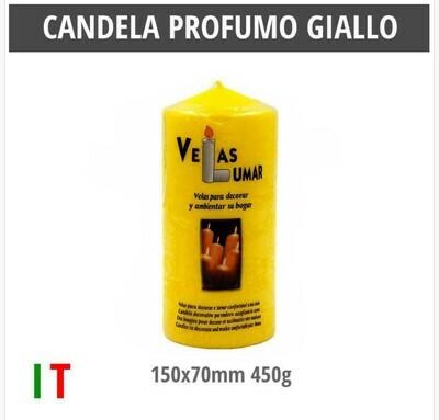 CANDELA PROFUMO GIALLO 150X70MM 450G