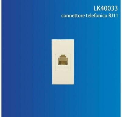 CONNETTORE TELEFONICO RJ11 QTA/250