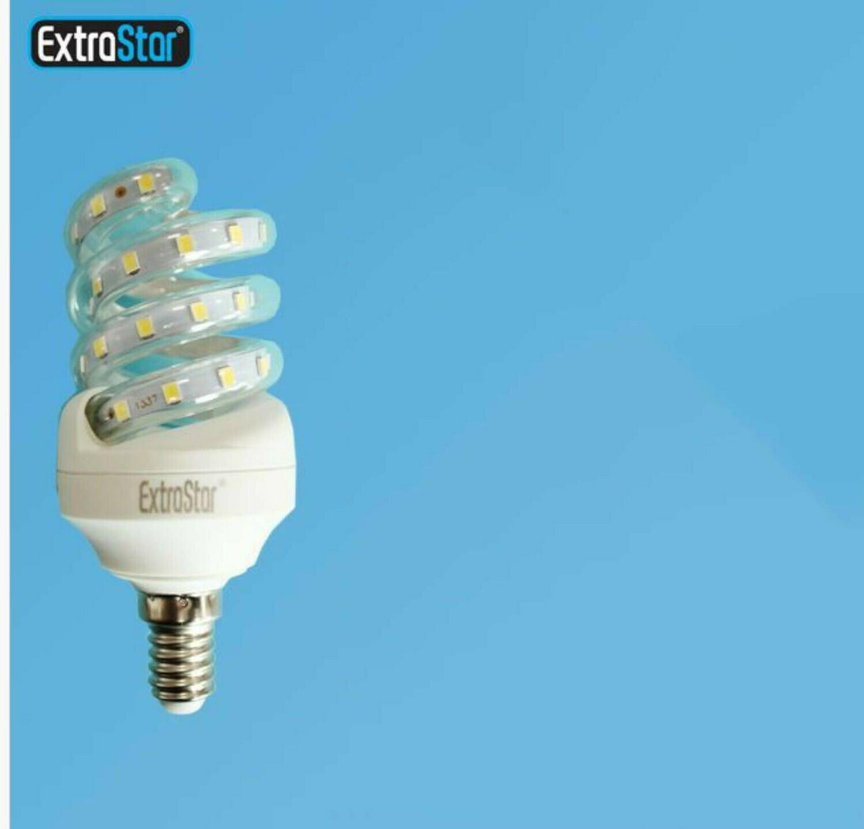 LAMPADINA LED SPIRALE E14 8W 720LM LUCE CALDA