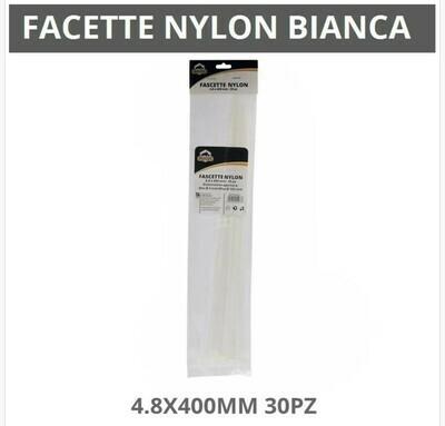 FASCETTE NYLON BIANCHE 4.8X400MM 30PZ