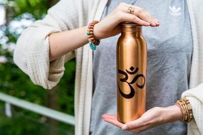 Copper Water Bottle: OM Symbol