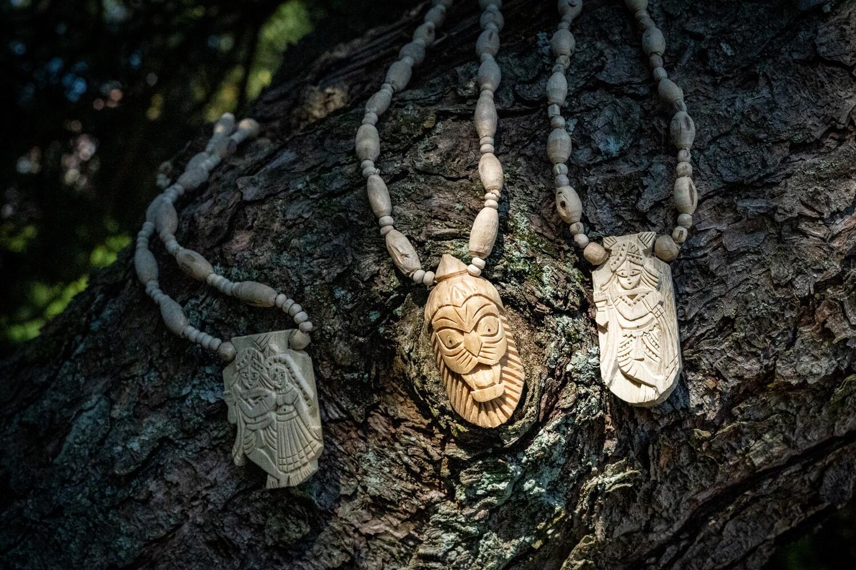 Tulsi Necklace - Narasimha Pendant