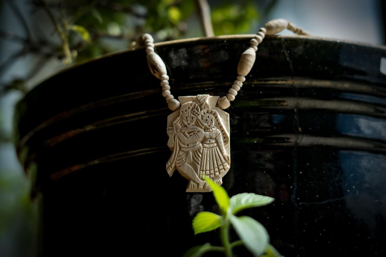 Tulsi Necklace - Radha Krishna Pendant