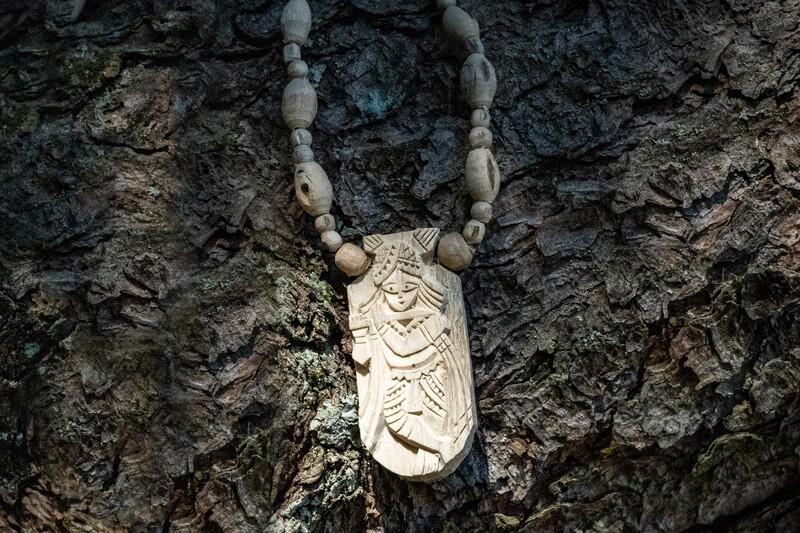 Tulsi Necklace - Krishna Pendant
