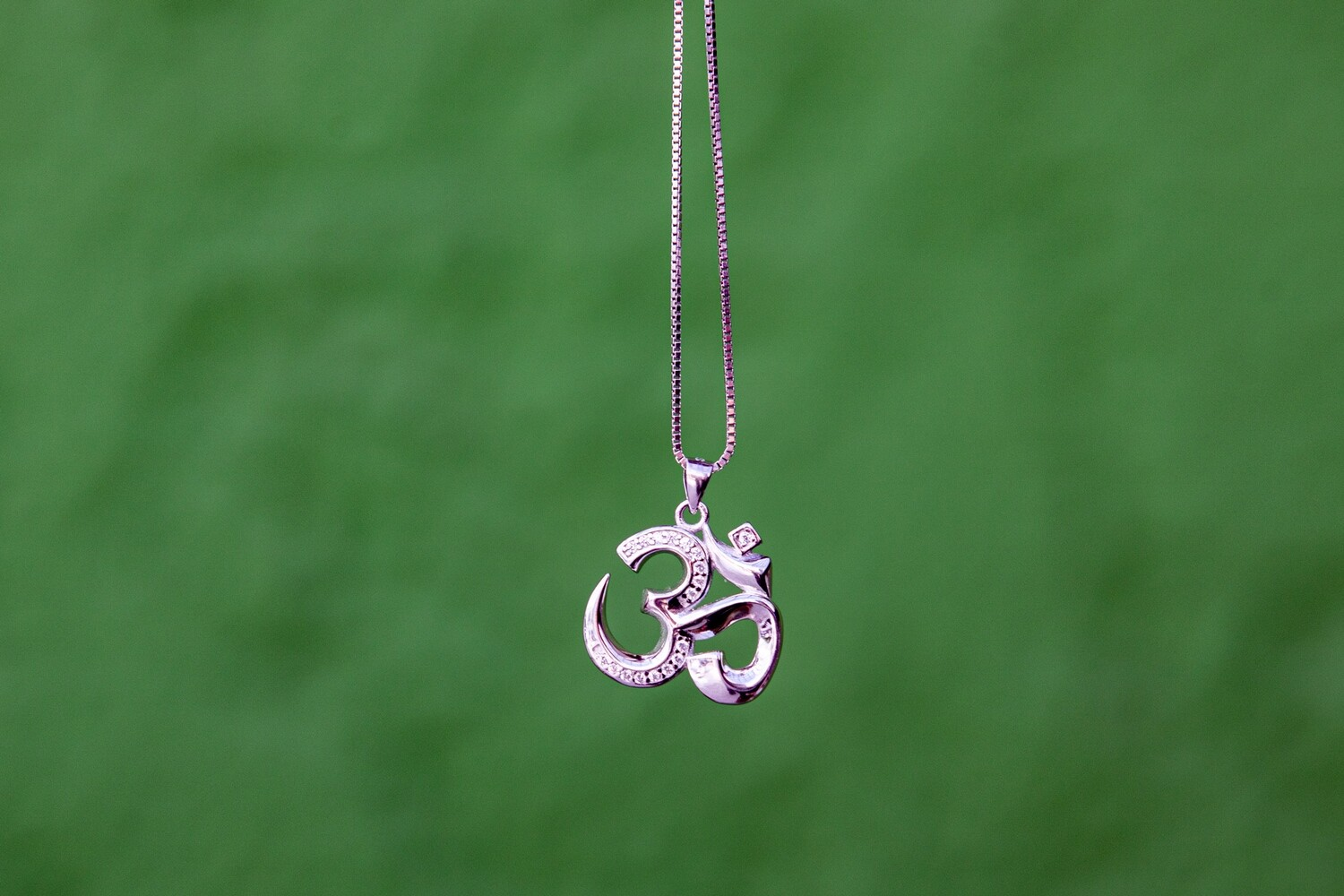 OM Necklace - Shiny Sterling Silver
