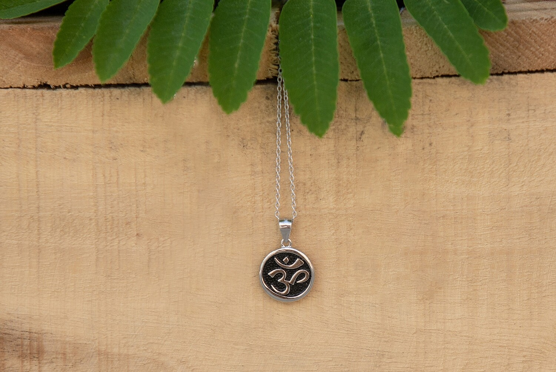 OM Drop Pendant Necklace
