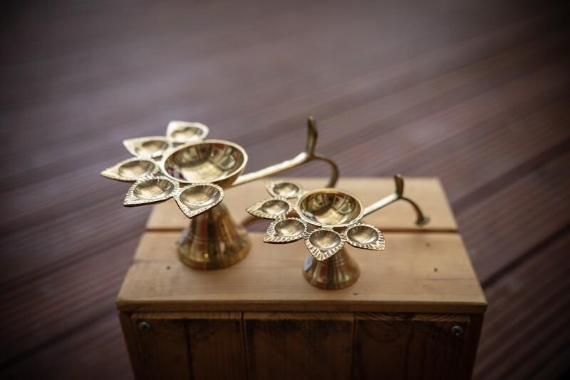 Puja Arati Lamp - 5 Face Diya Lamp