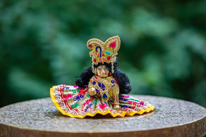 Laddu Gopal murti - small golden