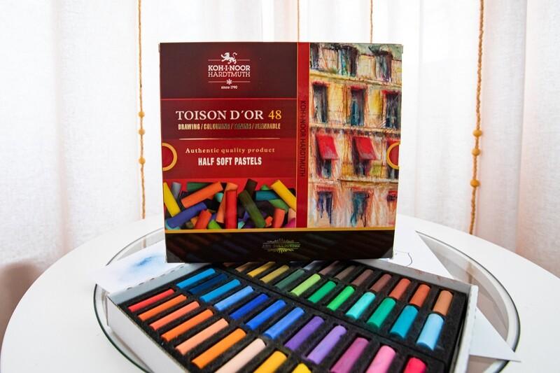 Set of Artists' Half Soft Pastels Chalks