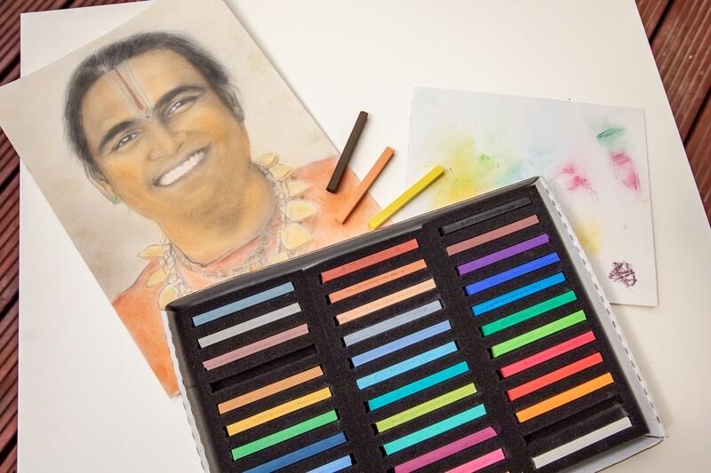 Set of Artists' Soft Pastels Chalks, long