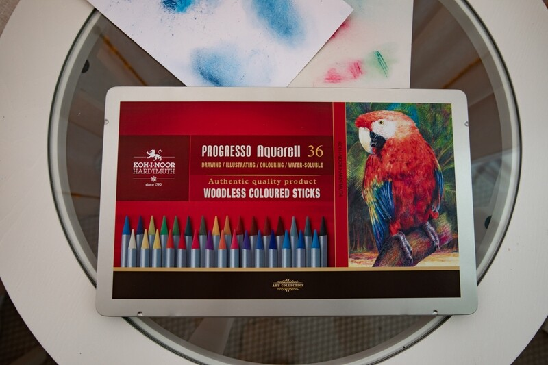 Set of Artists' Woodless Coloured Pencils Aquarelle