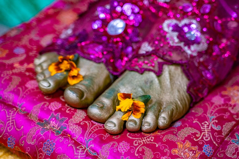 3 D feet 'Paramahamsa Vishwananda'