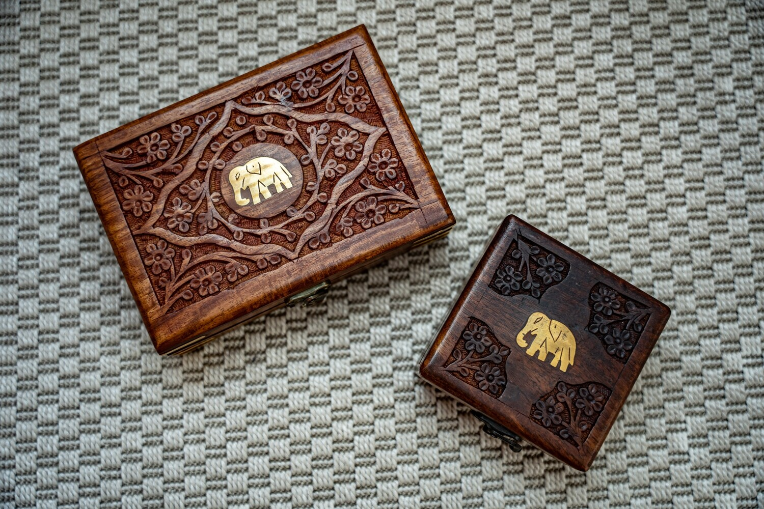 Carved Wooden Treasure Box