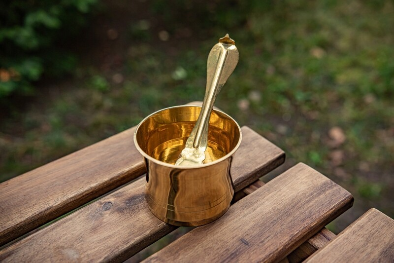 Brass Puja Cup (Panch Patra)