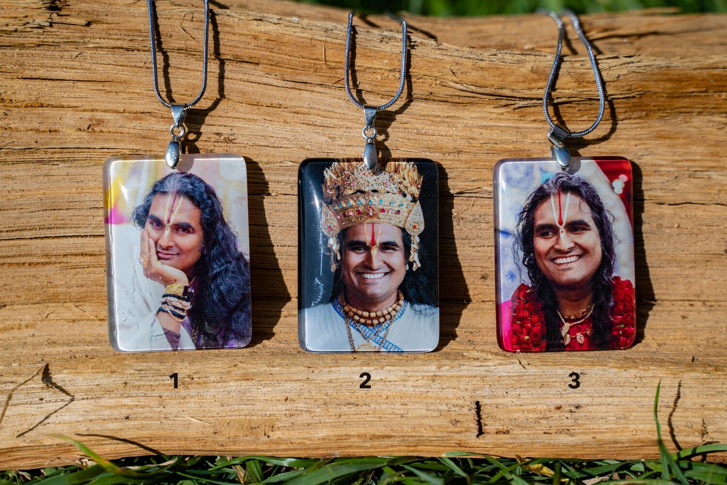Clear Photo Pendant, 'Paramahamsa Vishwananda', rectangle