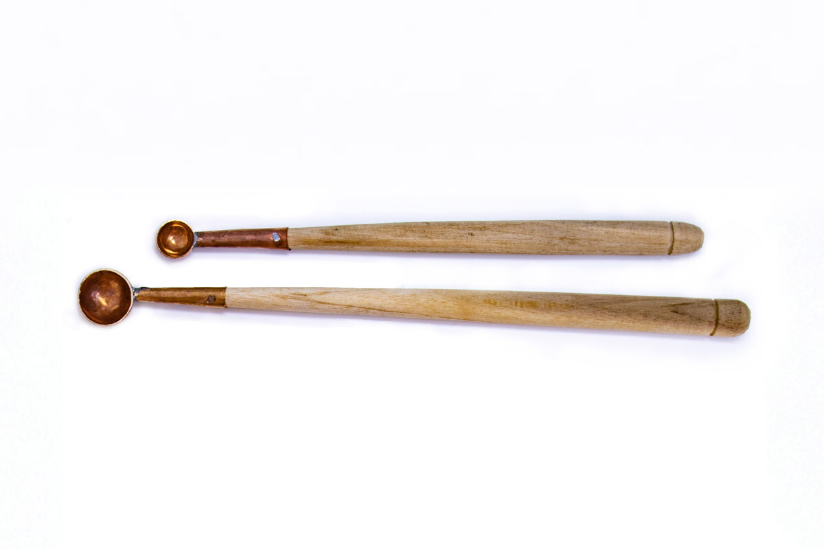 Wooden Yajna Spoon with Copper Tip