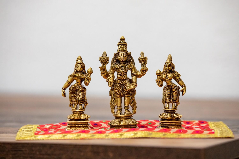Sri Perumal With Sri Devi & Bhu Devi Set